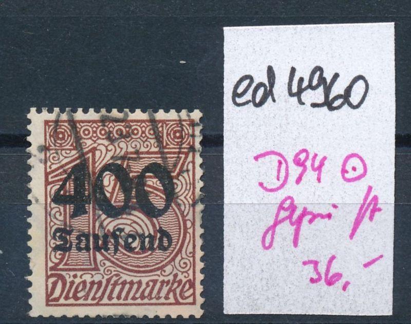 D.-Reich Nr.  D94     geprüft  o     (ed4960  ) siehe scan