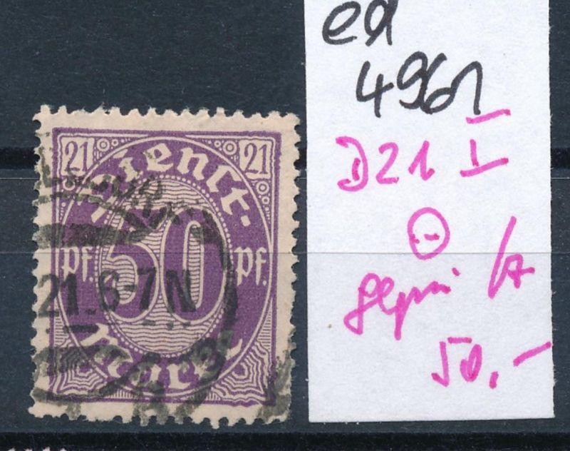 D.-Reich Nr.  D 21  I      geprüft  o     (ed4961  ) siehe scan