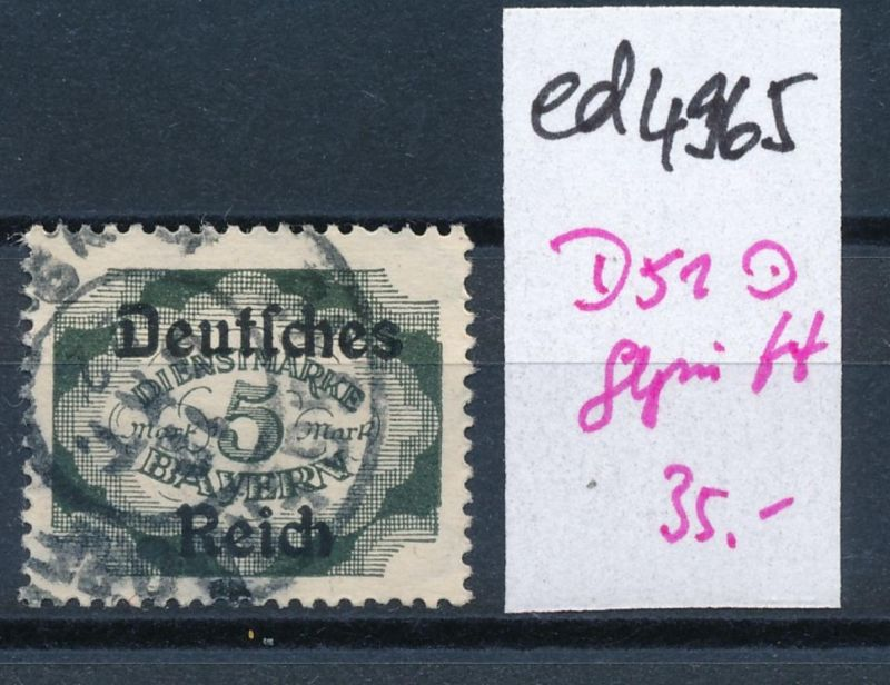 D.-Reich Nr.  D 51       geprüft  o     (ed4965  ) siehe scan