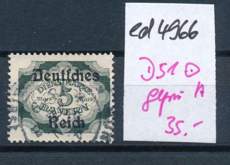 D.-Reich Nr.  D 51       geprüft  o     (ed4966  ) siehe scan