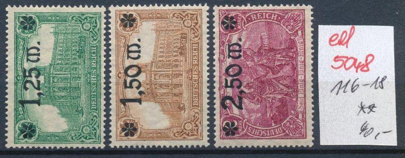 D.-Reich Nr. 116-18     **   (ed 5048  ) siehe scan