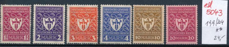 D.-Reich Nr. 199-04  **   (ed 5043  ) siehe scan