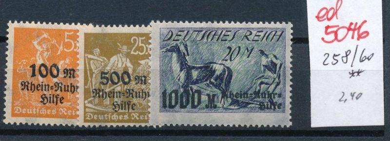 D.-Reich Nr. 258-60    **   (ed 5046  ) siehe scan