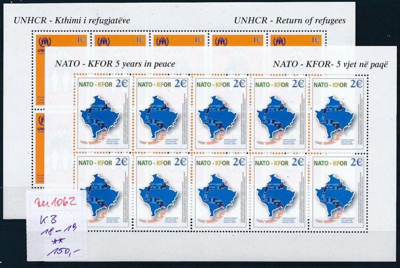 Kosovo  KB Nr. 18-19   **   (zu1062  ) siehe scan