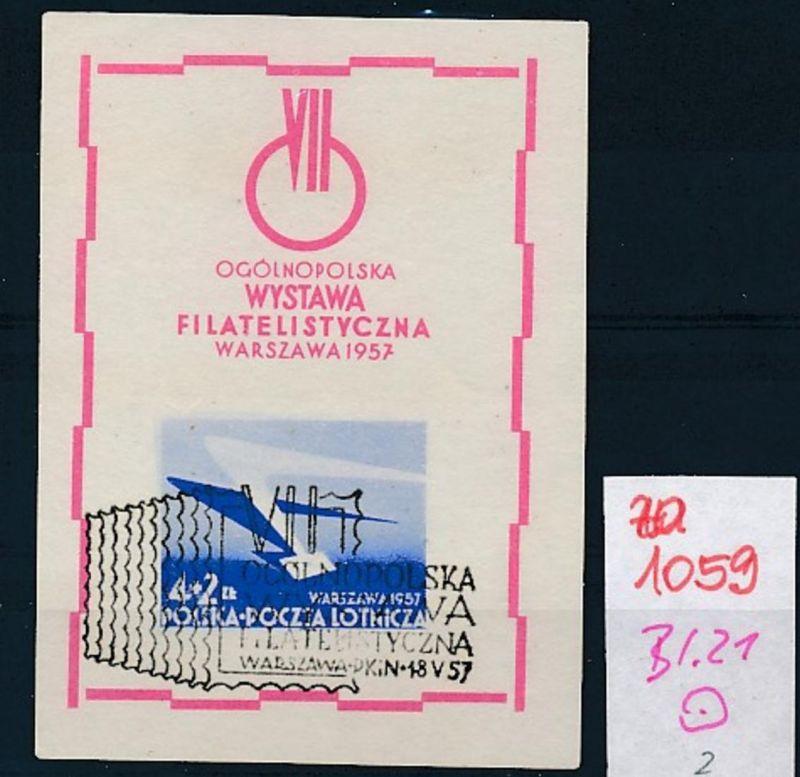 Polen Block 21    o   (zu1059  ) siehe scan