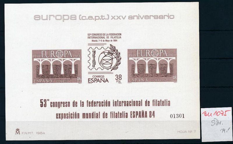 Spanien   Sonder  Druck Europa 1984         **   (zu1075  ) siehe scan