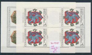 Tschechen  Block 2071-2  **   (zu1015  ) siehe scan