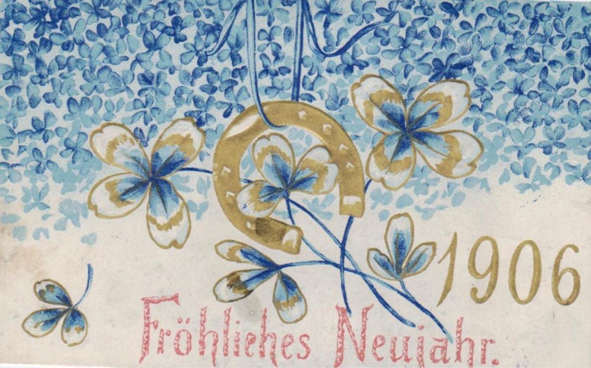 Motiv  Neujahr  ...-alte Karte    (ke1441   ) siehe scan