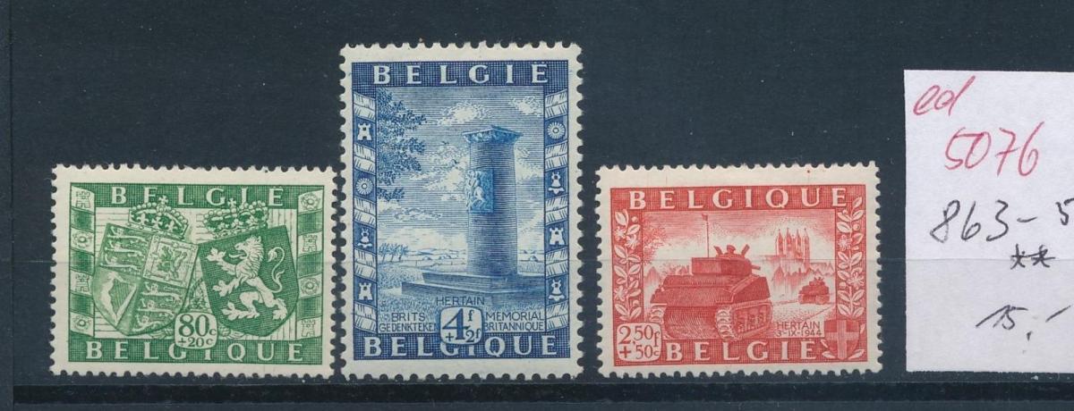 Belgien  Nr.  863-5   **  (ed5076  ) siehe scan