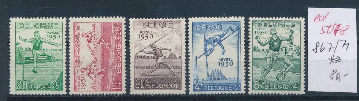 Belgien  Nr.  867-71   **  (ed5078  ) siehe scan