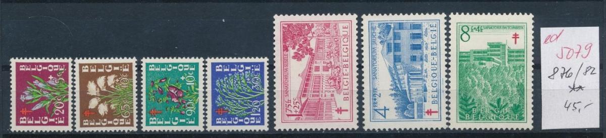 Belgien  Nr.  876-82   **  (ed5079  ) siehe scan