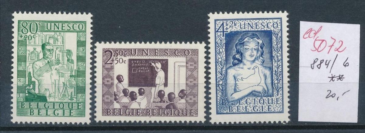 Belgien  Nr.  884-6   **   (ed5072  ) siehe scan