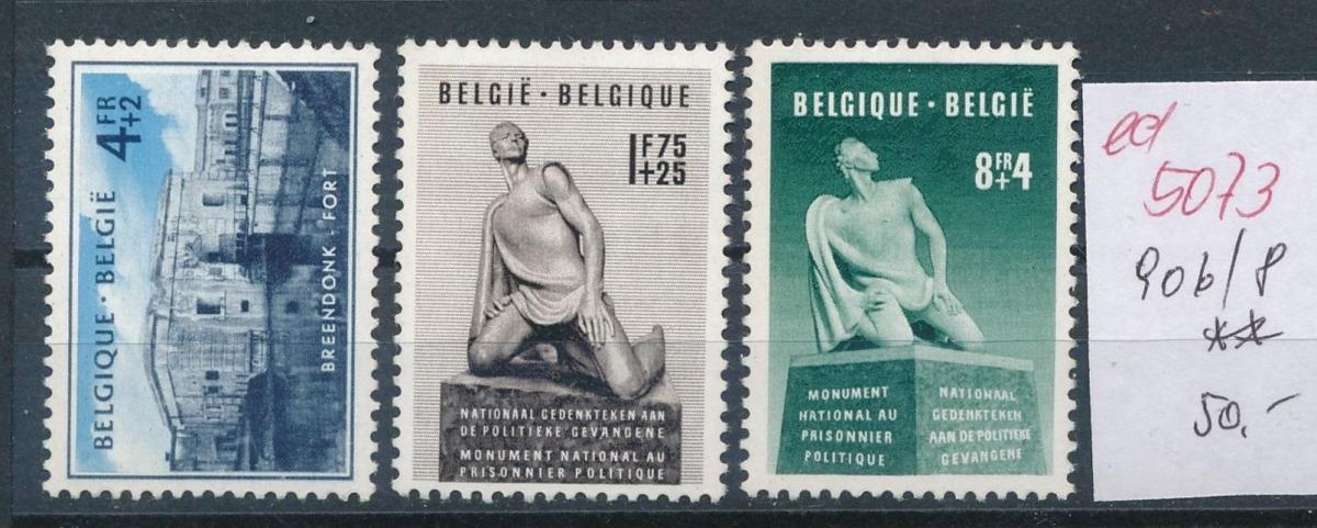 Belgien  Nr.  906-8   **   (ed5073  ) siehe scan