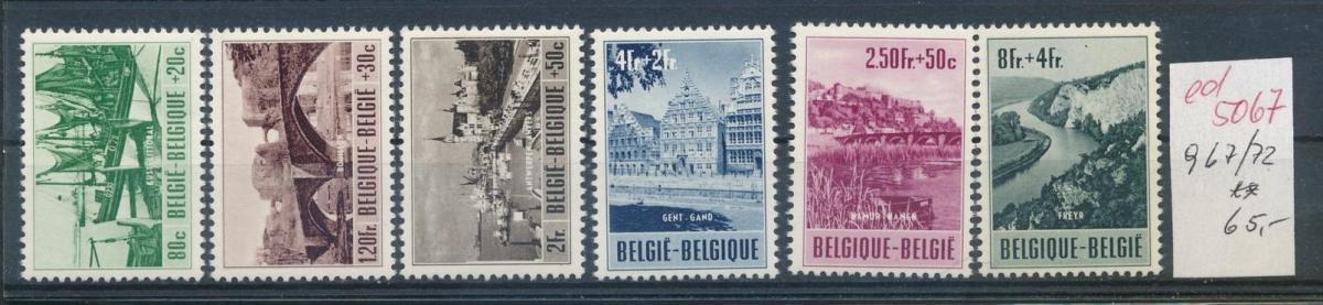 Belgien  Nr.  967-72   **   (ed5067  ) siehe scan