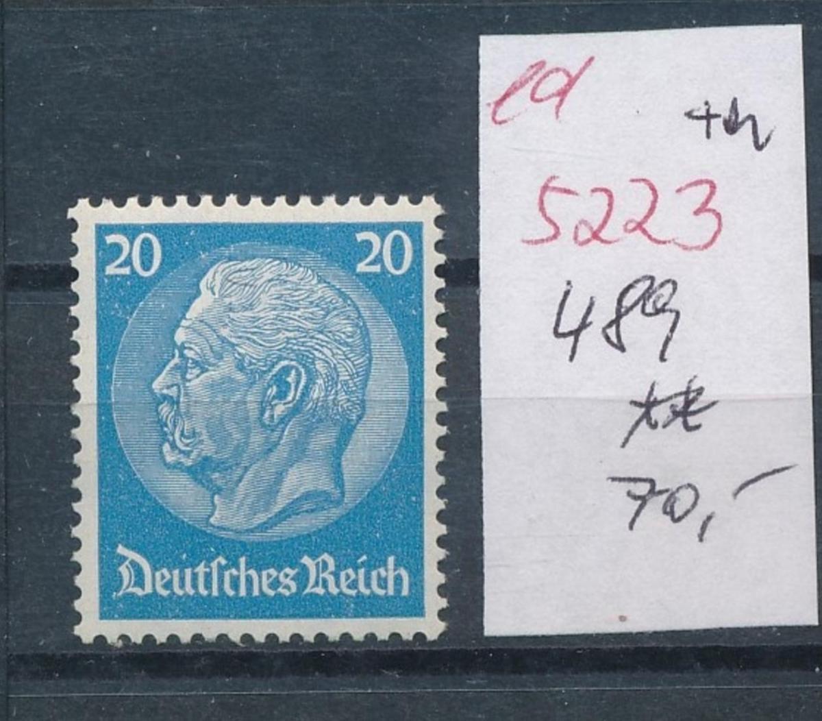 D.-Reich Nr.  489    **   (ed5223  ) siehe scan