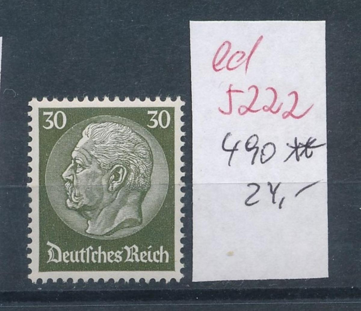 D.-Reich Nr.  490    **   (ed5222  ) siehe scan