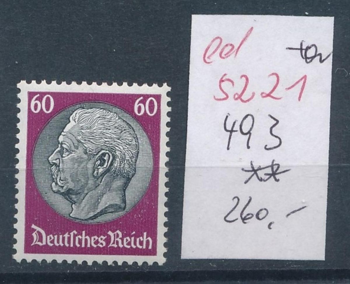 D.-Reich Nr.  493    **   (ed5221  ) siehe scan