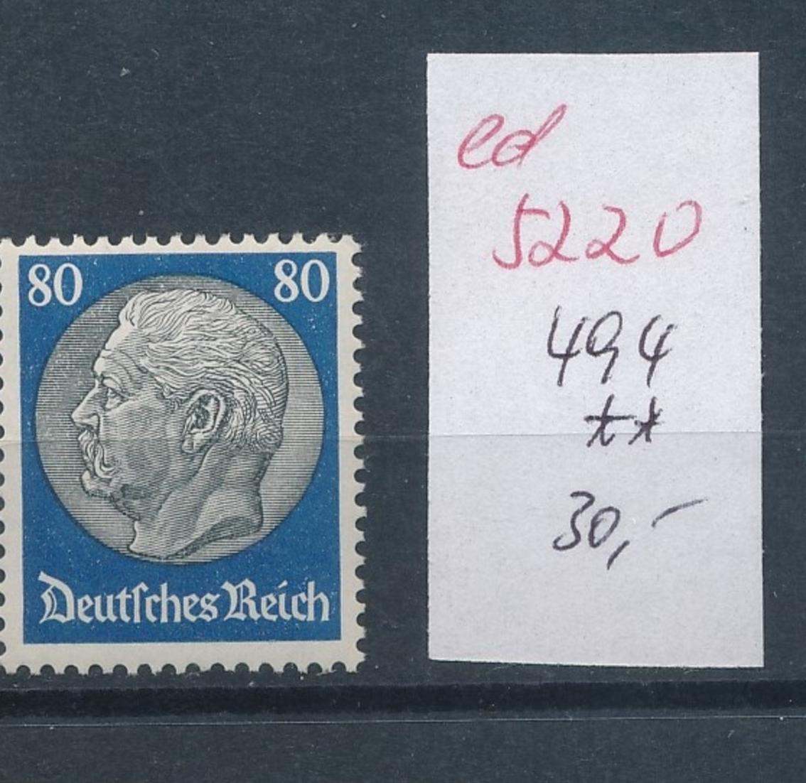D.-Reich Nr.  494    **   (ed5220  ) siehe scan