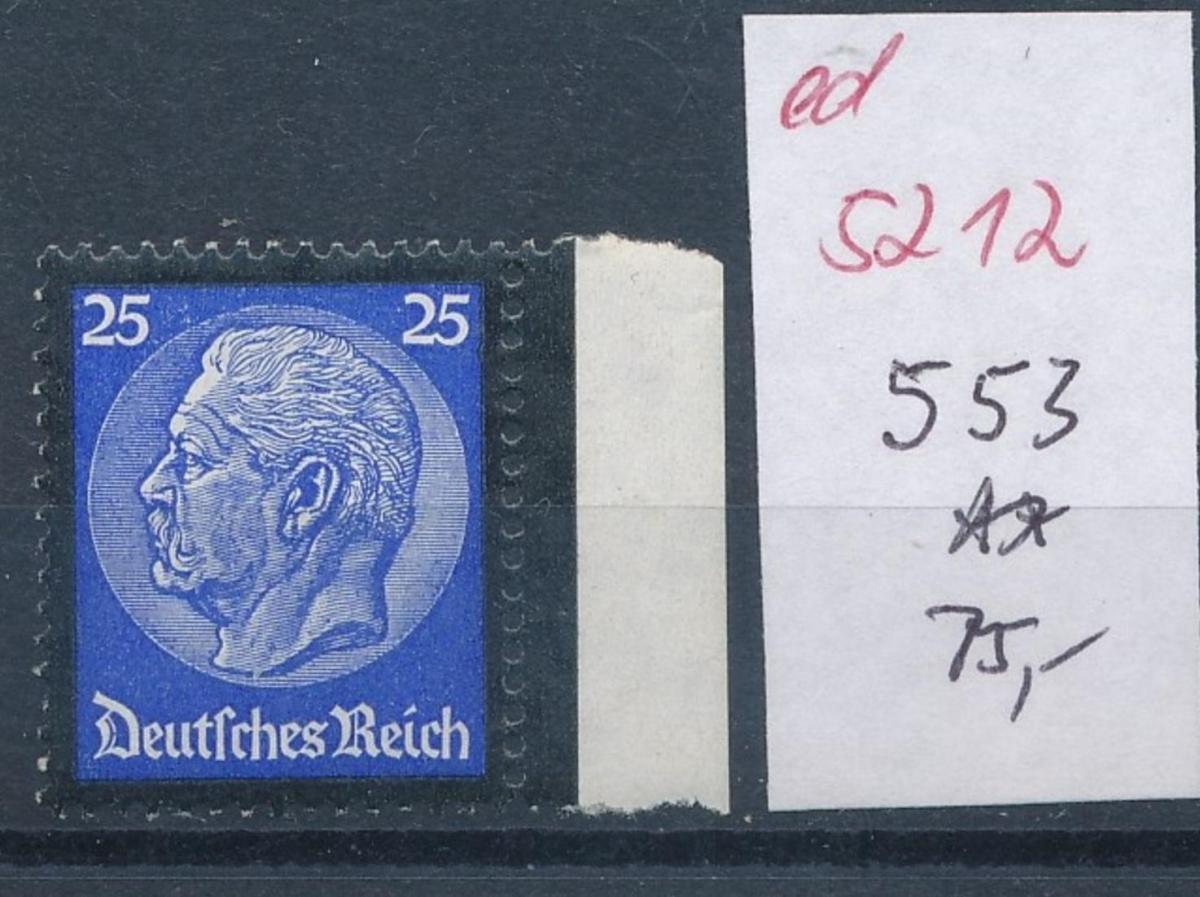 D.-Reich Nr.  553   **   (ed5212  ) siehe scan