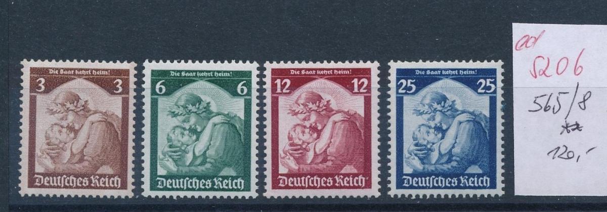 D.-Reich Nr.  565-8   **   (ed5206  ) siehe scan