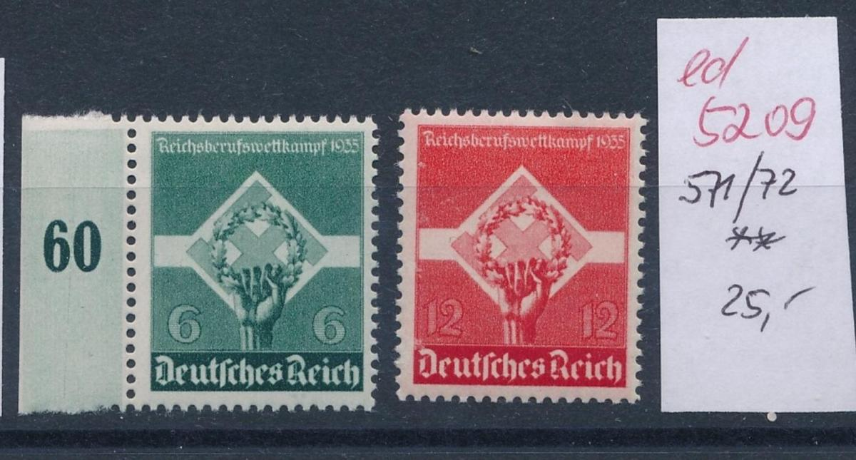 D.-Reich Nr.  571-2    **   (ed5209  ) siehe scan