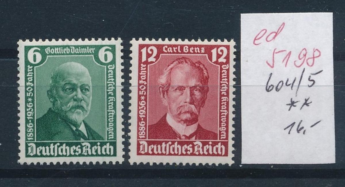 D.-Reich Nr.  604-5 **   (ed5198  ) siehe scan