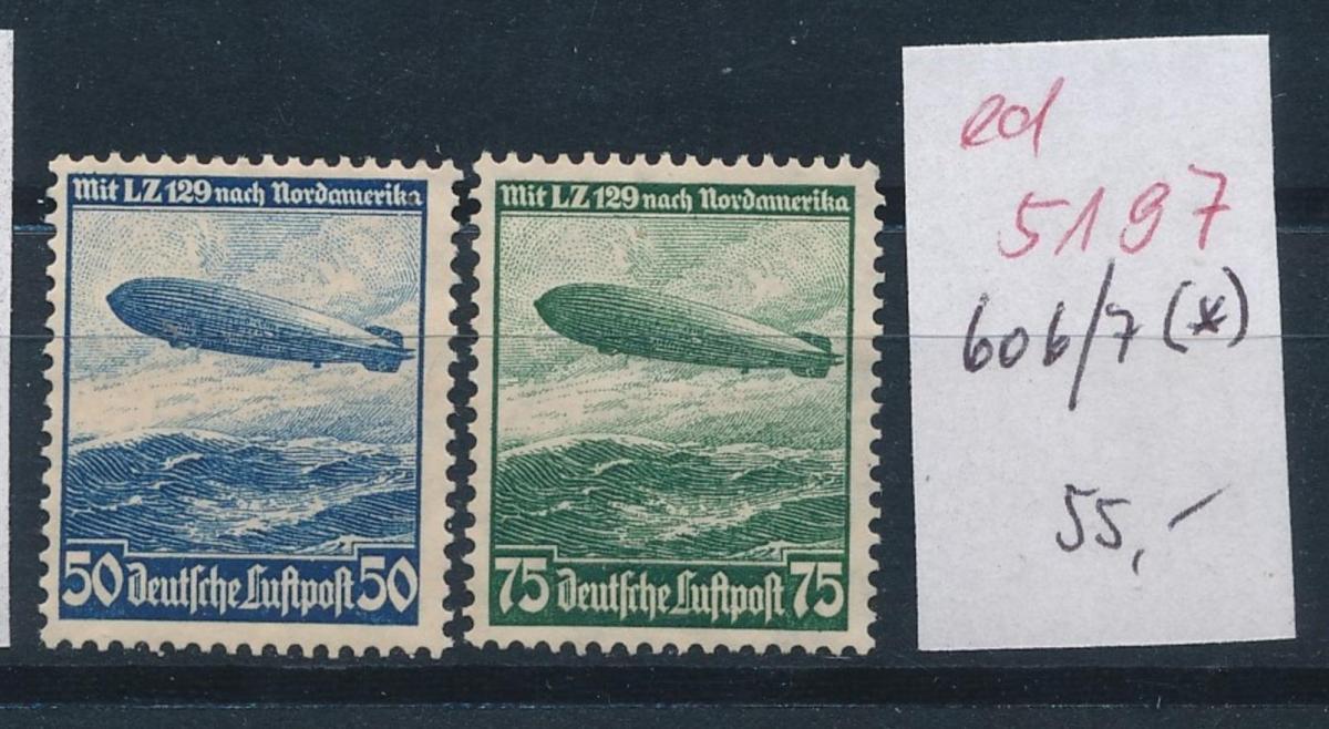 D.-Reich Nr.  606-7  (*)   (ed5197  ) siehe scan
