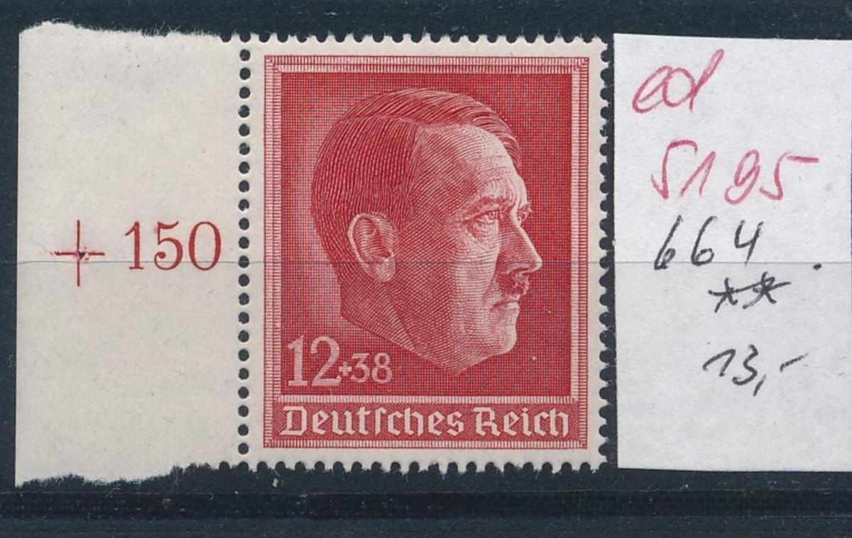 D.-Reich Nr.  664   **   (ed5195  ) siehe scan