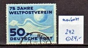 DDR  Nr. 242    o ( aa6071 ) siehe scan !!