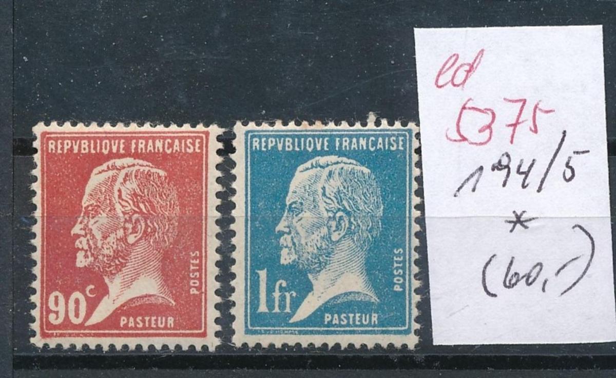 Frankreich Nr.  194-5  *  (ed5375   ) siehe scan