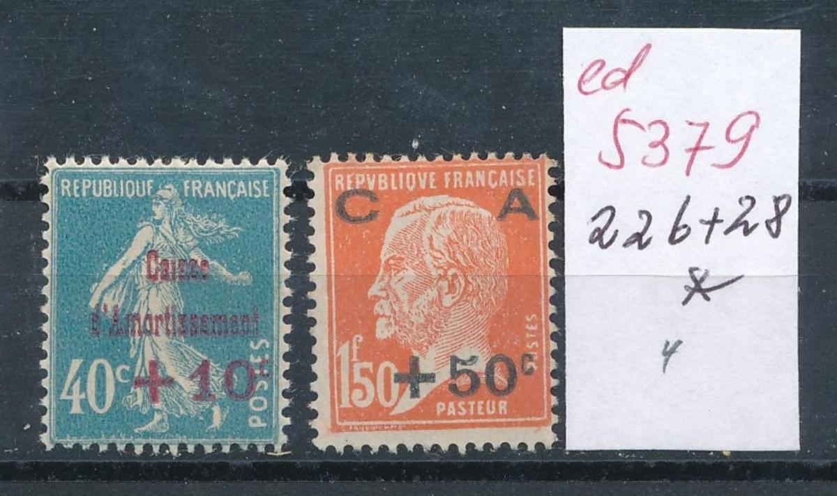 Frankreich Nr.  226-8     *  (ed5379   ) siehe scan