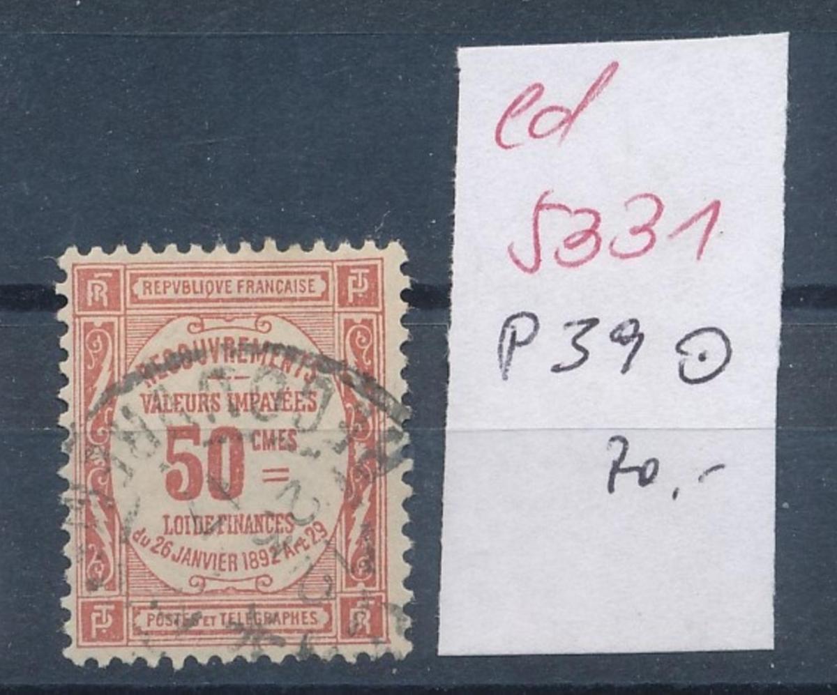 Frankreich Nr. Porto  39    o    (ed5331   ) siehe scan