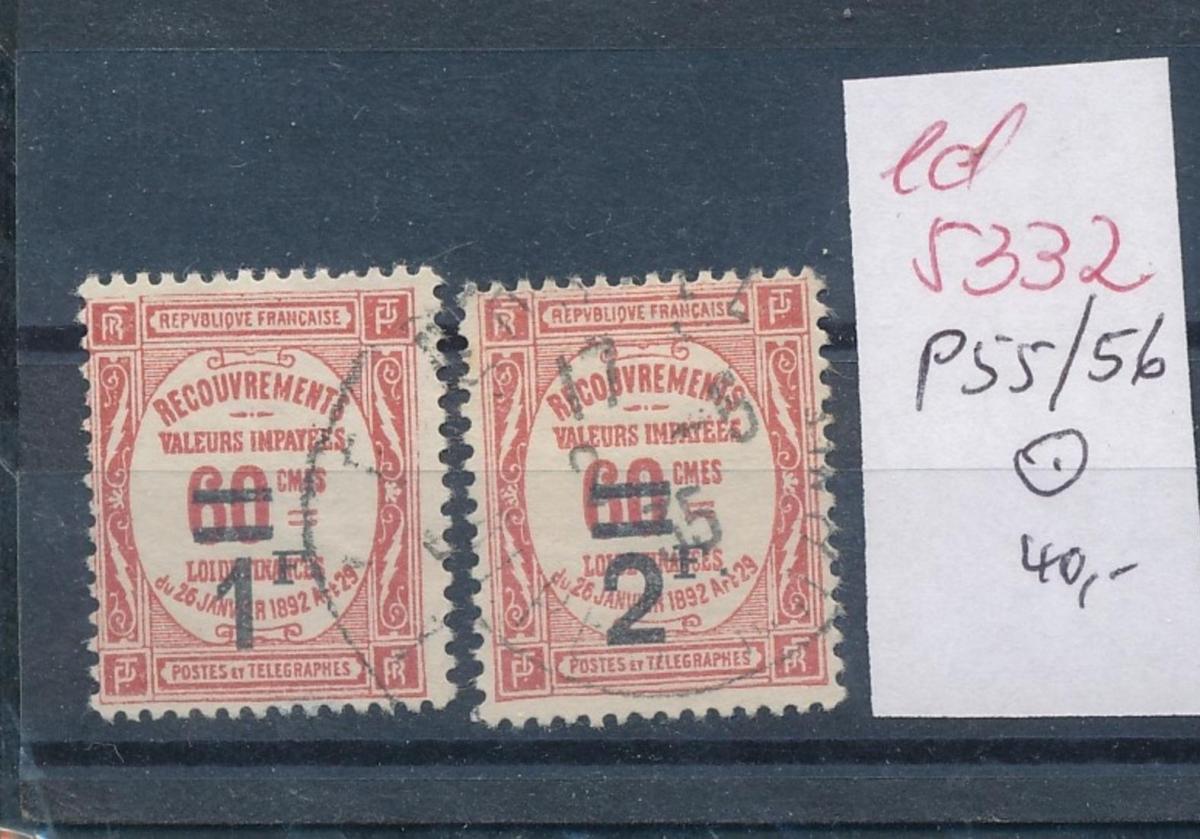 Frankreich Nr. Porto  55-6    o    (ed5332   ) siehe scan