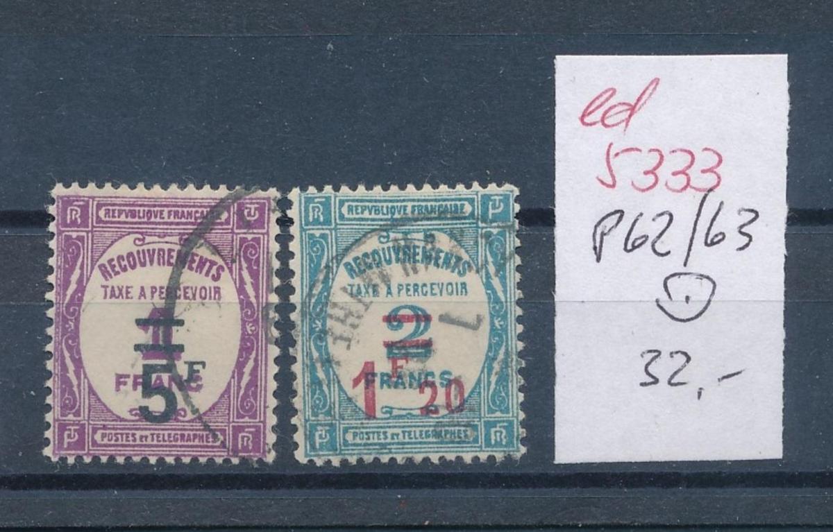 Frankreich Nr. Porto  62-3    o    (ed5333   ) siehe scan