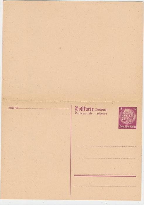 D.-Reich -Ganzsache....  ( be5032   ) siehe scan