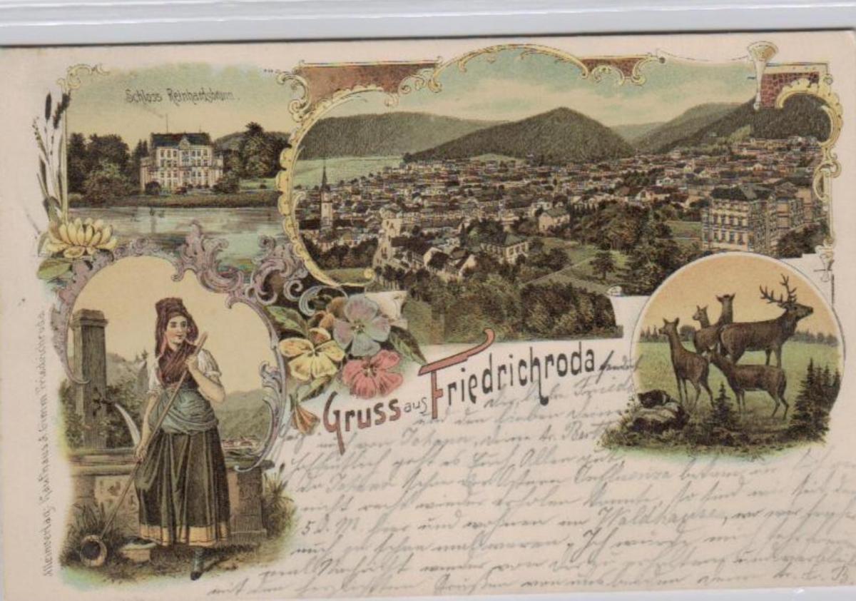 Friedrichroda  .....alte Litho Karte    (ke2387   ) siehe scan