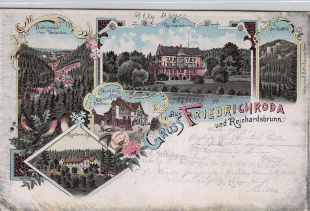 Friedrichroda  .....alte Litho Karte    (ke2395   ) siehe scan