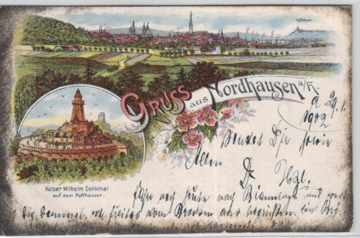 Nordhausen .....alte Litho Karte    (ke1949  ) siehe scan