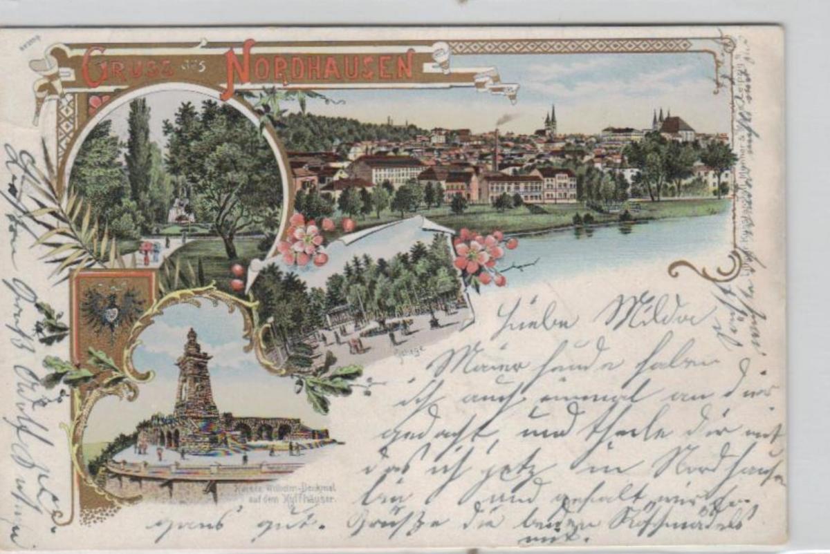 Nordhausen .....alte Litho Karte    (ke1989  ) siehe scan