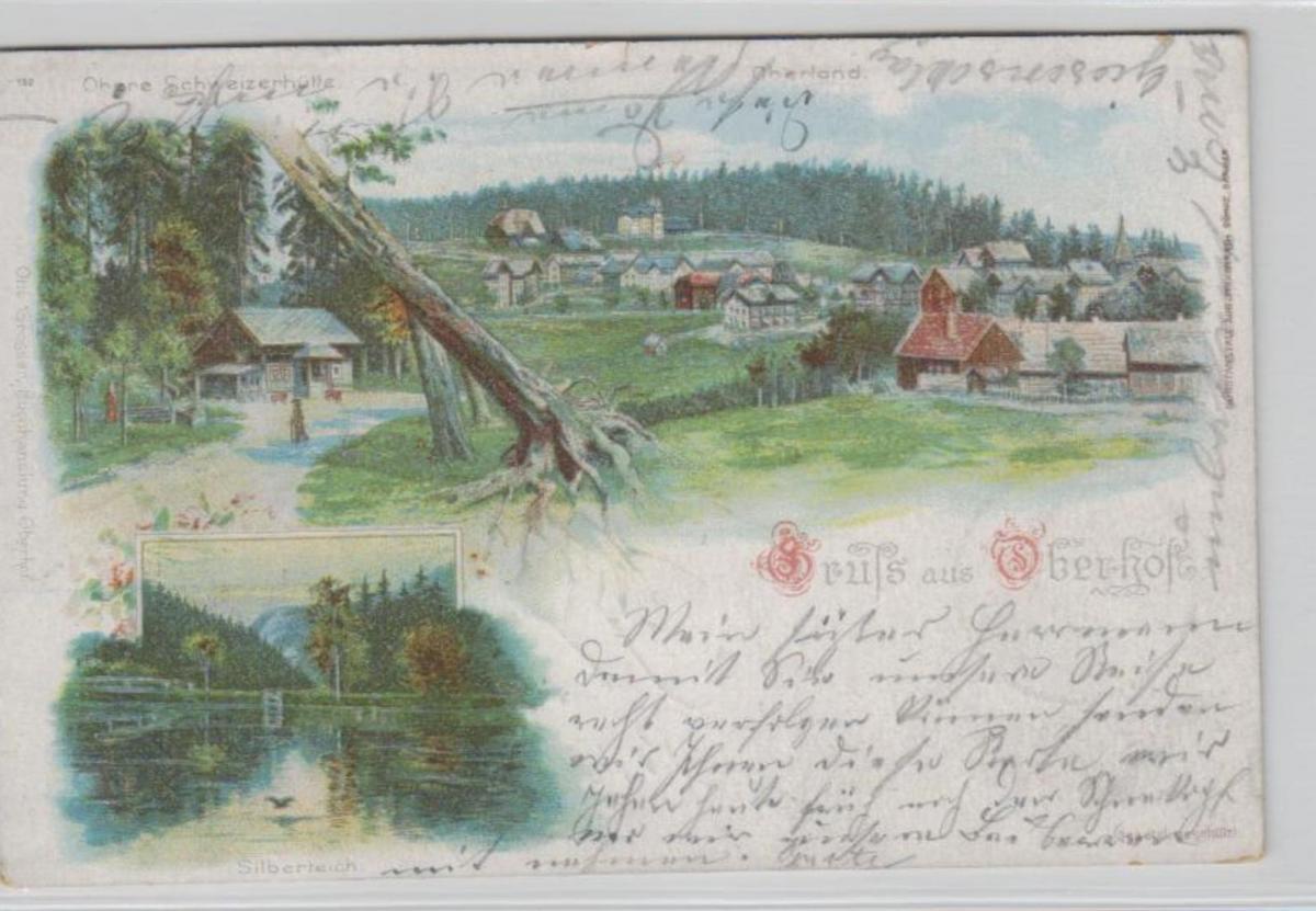 Oberhof  .....alte Litho Karte    (ke2177   ) siehe scan