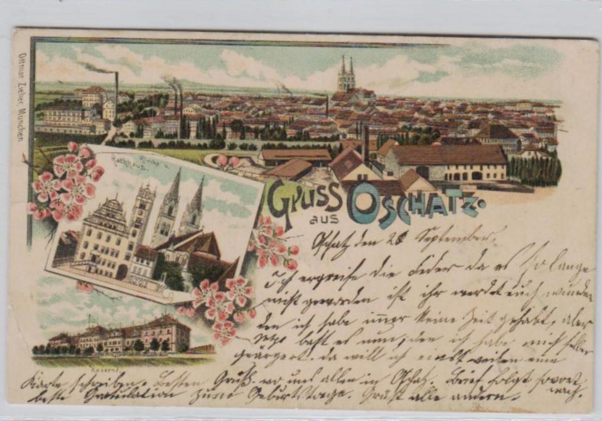 Oschatz .....alte Litho Karte    (ke2397   ) siehe scan