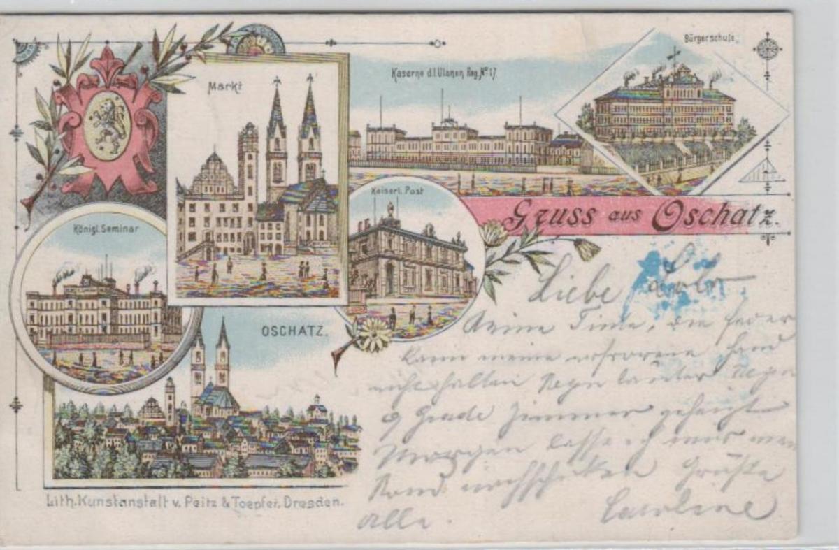 Oschatz .....alte Litho Karte    (ke2409   ) siehe scan