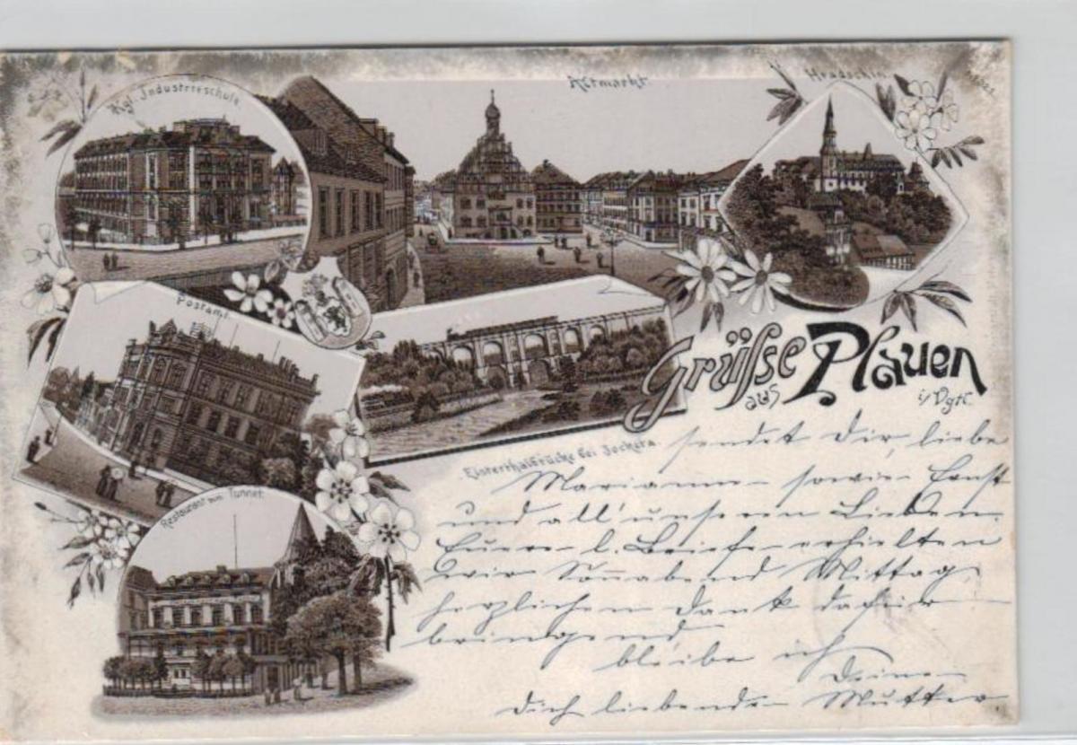 Plauen .....alte Litho Karte    (ke2345   ) siehe scan
