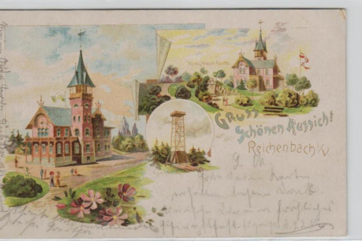Reichenbach  .....alte Litho Karte    (ke2017   ) siehe scan