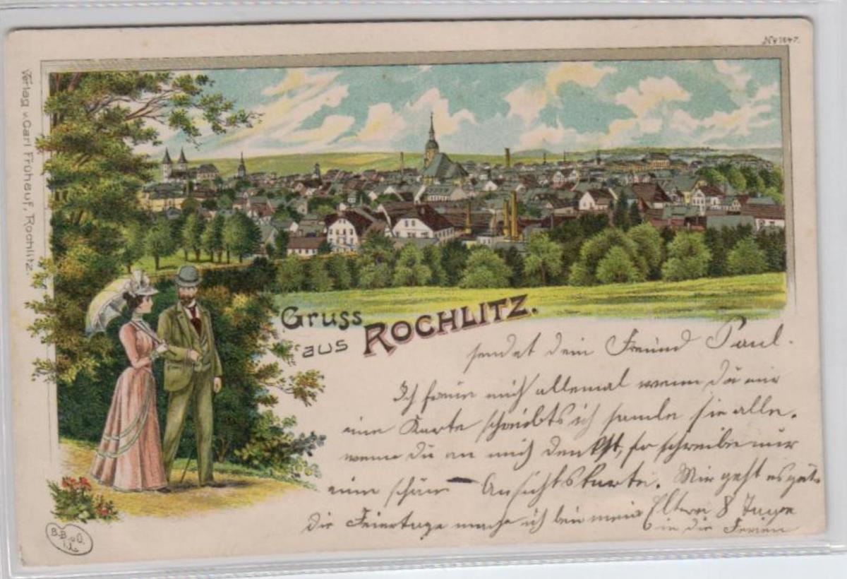 Rochlitz   .....alte Litho Karte    (ke2363   ) siehe scan