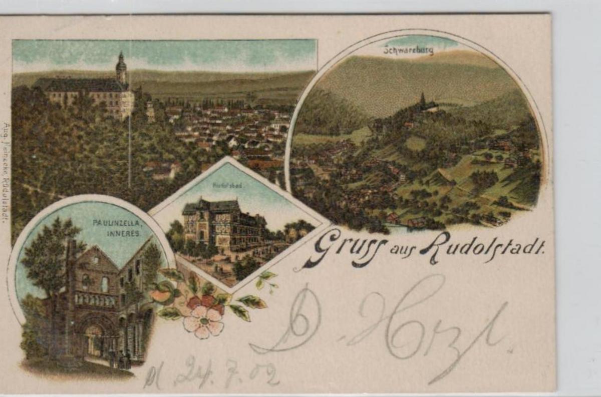 Rudolstadt   .....alte Litho Karte    (ke2011  ) siehe scan