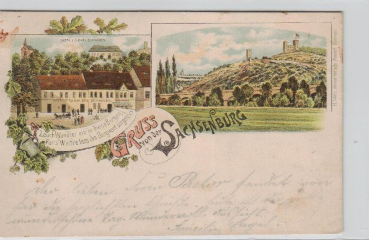 Sachsenburg .....alte Litho Karte    (ke2329   ) siehe scan
