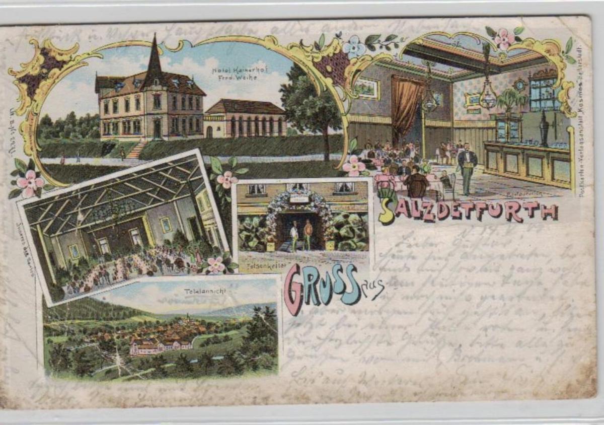 Salzdetfurth .....alte Litho Karte    (ke2119   ) siehe scan