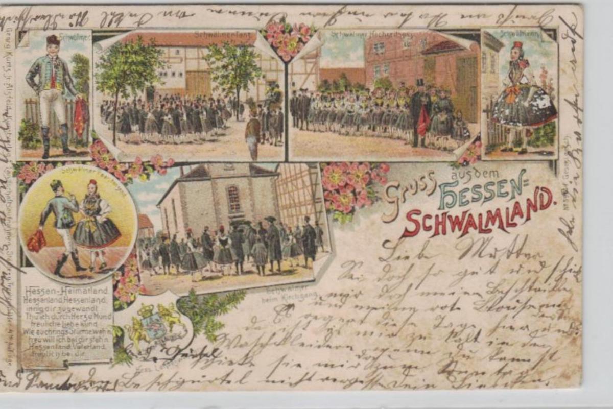 Schwalmland   ...alte Litho Karte    (ke2261   ) siehe scan