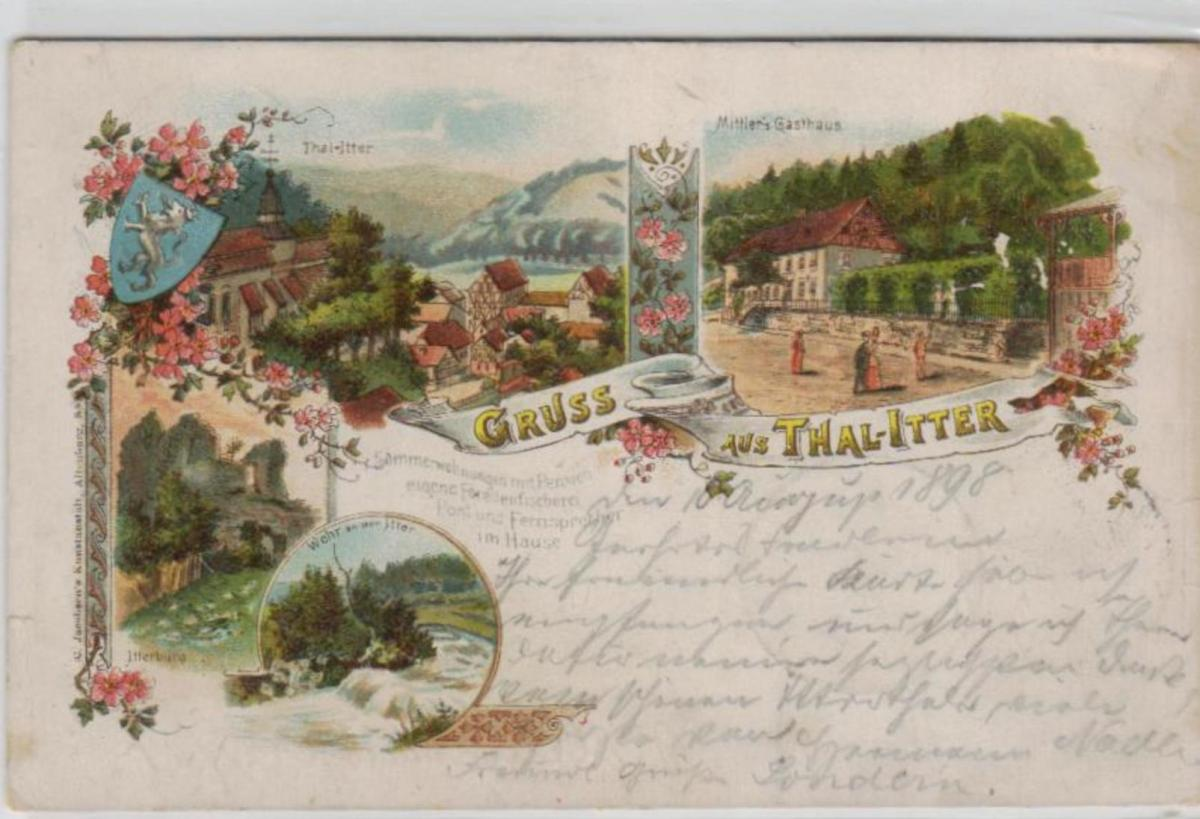 Thal-Itter  .....alte Litho  Karte    (ke2095  ) siehe scan